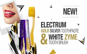 Our new bestseller: Beautydrugs Electrum Gold Silver Toothpaste and Whyte Zyme Toothbrush